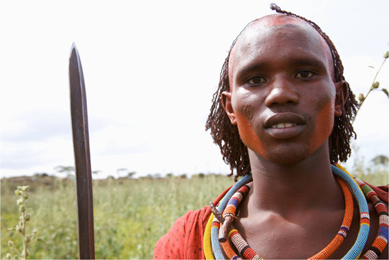 Masaai warrior. Photo courtesy of Paula Kahumbu.