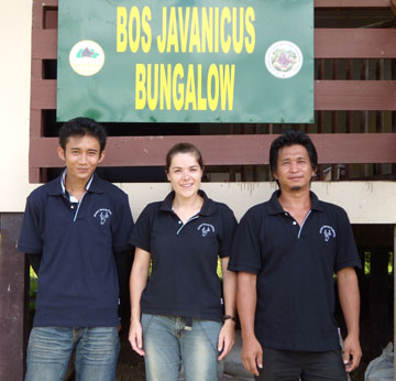 The Bornean Banteng Program team in Malua BioBank. Photo by: Penny Gardner.