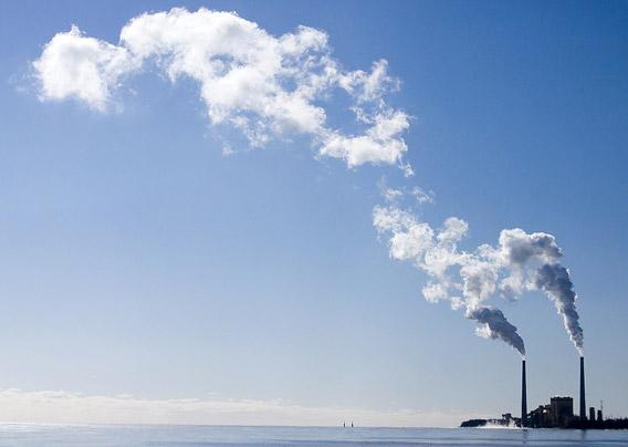 Coal power plant on Lake Michigan