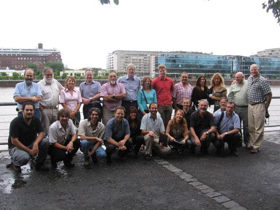 Participantes del foro Abordaje de Especies del Paisaje Marino (LSA) en el Mar de Patagonia. Foto por: Victoria Zavattieri.
