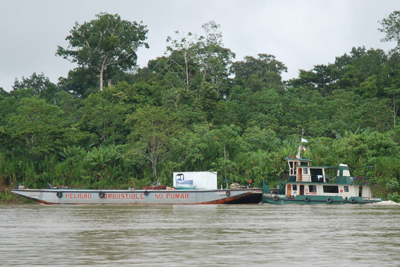 A Perenco boat in the Amazon. Photo courtesy of David Hill.