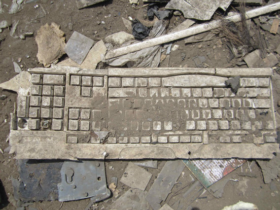 Keyboard finds its way to Agbogbloshie. Photo by: David Fedele.