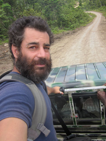 David Fedele making his film in Papua New Guinea. Photo courtesy of: David Fedele.