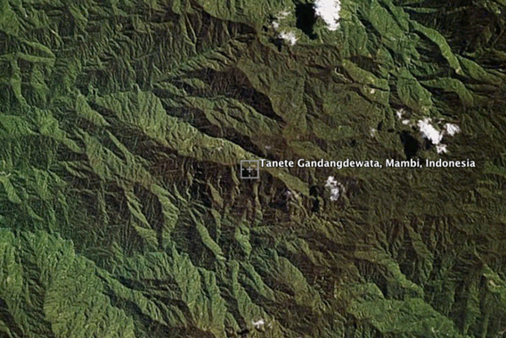 Image of Mount Gandangdewata. Image created using Google Earth.