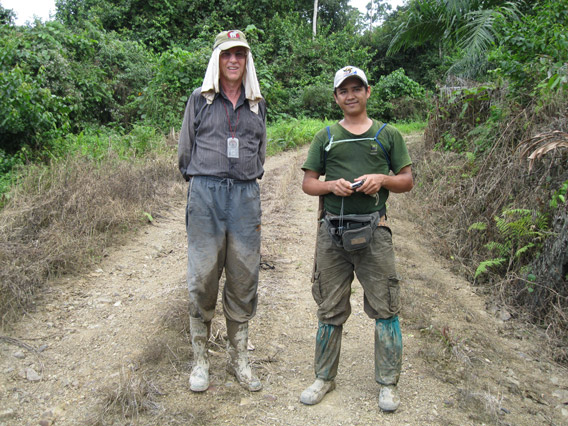 John Payne (left) with BORA field team leader Tinrus Tindok.