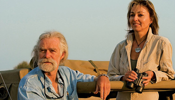 Dereck and Beverly Joubert. Photo by: Jacques Nortier. © National Geographic.