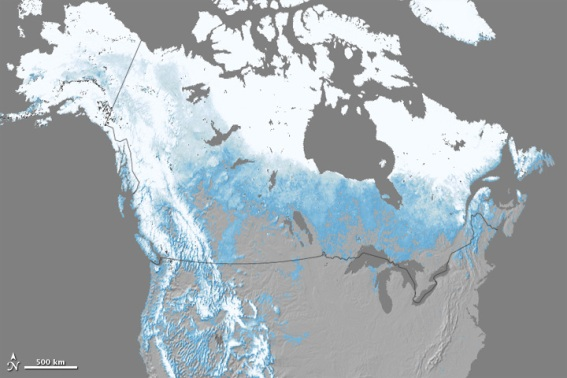 Nasa Satellite Image Reveals Record Low Snow For The United States: North America Snow Cover Map At Codeve.org