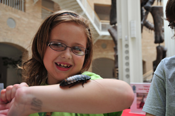 Olivia as we hosted the 'Bug Out Festival' at the Fernbank Museum in Atlanta.