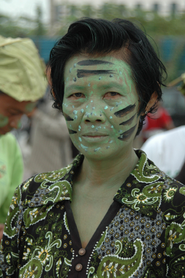 Protestor in costume. Photo courtesy of: Prey Lang Network.