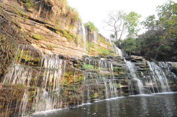 Waterfalls in the park. Photo by: Frankfurt Zoological Society (FZS).