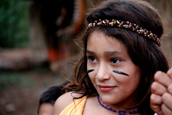 Young Guarani girl in Misiones. Photo courtesy of: World Land Trust.