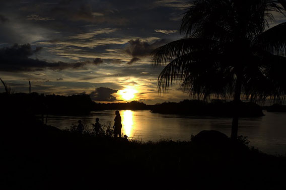 The Xingu River at sunset. Photo courtesy of Amazon Watch.